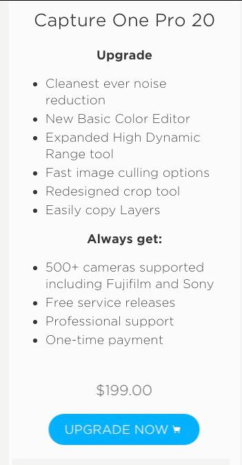 Capture One Pro 20 Upgrade 01