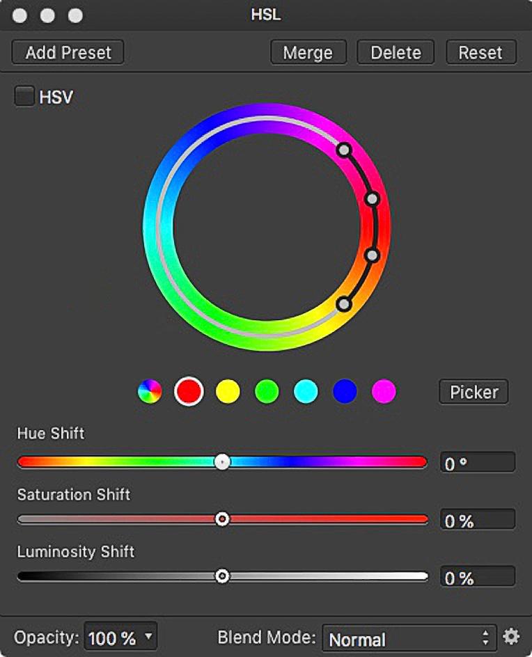 Affinity Photo HSL Wheel